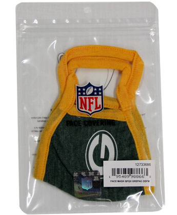 GREEN BAY PACKERS  NEW ERA FACE MASK. Found in Clothing > Accessorie