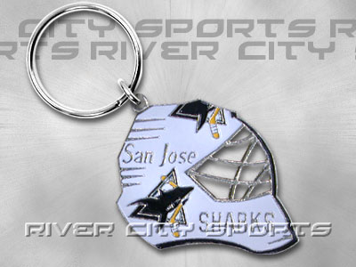 SAN JOSE SHARKS Goalie Mask Keychain. Found in Souvenirs > Keychains