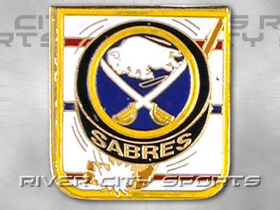BUFFALO SABRES Puck Pin [Old Style Logo]. Found in Souvenirs > Pins