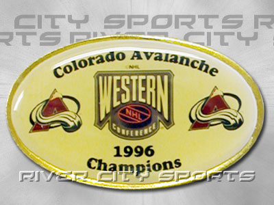 COLORADO AVALANCHE 1996 Western Conference Champions Pin. Found in Souvenirs > Pins