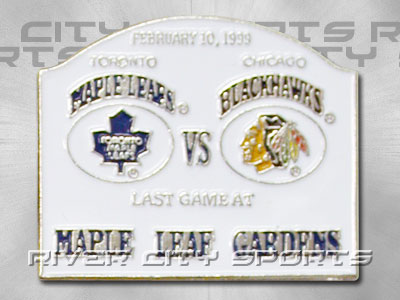 TORONTO MAPLE LEAFS Last Game - Toronto vs. Chicago Pin. Found in Souvenirs > Pins