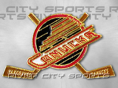 Vancouver Canucks X Stick Pin Old Style Logo Found In Nhl Souvenirs Pins River City Sports