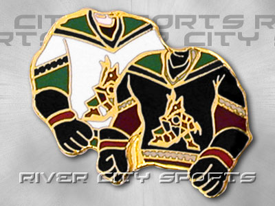 PHOENIX COYOTES Double Sweater Pin. Found in Souvenirs > Pins