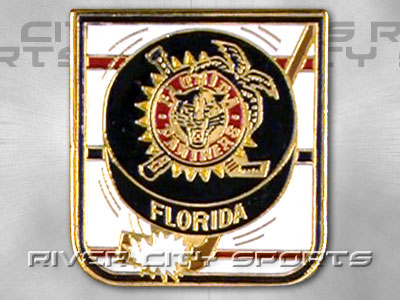 FLORIDA PANTHERS Puck Pin [Alternate Style Logo]. Found in Souvenirs > Pins