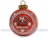 NFL BALL ORNAMENT in SAN FRANCISCO 49ERS Found in: NFL > SAN FRANCISCO 49ERS > Souvenirs > Christmas