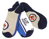 YOUTH 3 PACK NO-SHOW SOCKS in WINNIPEG JETS Found in: NHL > Winnipeg Jets > Clothing > Accessorie