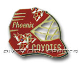 GOAL MASK PIN in PHOENIX COYOTES Found in: NHL > PHOENIX COYOTES > Souvenirs > Pins