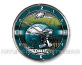 WINCRAFT CHROME CLOCK in PHILADELPHIA EAGLES Found in: NFL > Philadelphia Eagles > Souvenirs > Clocks