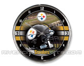WINCRAFT CHROME CLOCK in PITTSBURGH STEELERS Found in: NFL > PITTSBURGH STEELERS > Souvenirs > Clocks