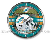 WINCRAFT CHROME CLOCK in MIAMI DOLPHINS Found in: NFL > MIAMI DOLPHINS > Souvenirs > Clocks