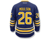 REEBOK PREMIER JERSEY - RCS CUSTOMIZED - MOULSON in BUFFALO SABRES Found in: NHL > BUFFALO SABRES > Jerseys > Premier