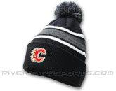 POM POM TOQUE WITH TEAM LOGO in CALGARY FLAMES Found in: NHL > CALGARY FLAMES > Clothing > Hats