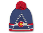BIG LOGO KNIT WITH POM in COLORADO ROCKIES Found in: NHL VINTAGE > COLORADO ROCKIES > Clothing > Hats