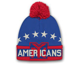 BIG LOGO KNIT WITH POM in NEW YORK AMERICANS Found in: NHL VINTAGE > NEW YORK AMERICANS > Clothing > Hats