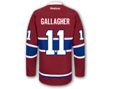 NHL > MONTREAL CANADIENS > Jerseys > REEBOK PREMIER JERSEY - RCS CUSTOMIZED - GALLAGHER