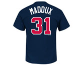 MAJESTIC MADDUX NAME & NUMBER TEE in ATLANTA BRAVES Found in: MLB > Atlanta Braves > Clothing > T-Shirts