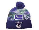 SUB. CUFFED KNIT W/POM in VANCOUVER CANUCKS Found in: NHL > VANCOUVER CANUCKS > Clothing > Hats