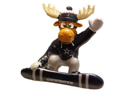 SNOWBOARDING MOOSE in DALLAS COWBOYS Found in: NFL > DALLAS COWBOYS > Souvenirs > Christmas
