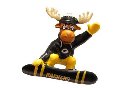 SNOWBOARDING MOOSE in GREEN BAY PACKERS Found in: NFL > GREEN BAY PACKERS > Souvenirs > Christmas