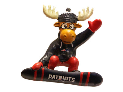 SNOWBOARDING MOOSE in NEW ENGLAND PATRIOTS Found in: NFL > NEW ENGLAND PATRIOTS > Souvenirs > Christmas