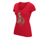 LDS FOIL LOGO TEE in OTTAWA SENATORS Found in: NHL > OTTAWA SENATORS > Clothing > T-Shirts