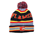 POM POM TOQUE in CALGARY FLAMES Found in: NHL > CALGARY FLAMES > Clothing > Hats