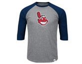 2 TO 1 MARGIN RAGLAN in CLEVELAND INDIANS Found in: MLB > Cleveland Indians > Clothing > Shirts