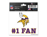 #1 FAN DECAL in MINNESOTA VIKINGS Found in: NFL > MINNESOTA VIKINGS > Souvenirs > Stickers