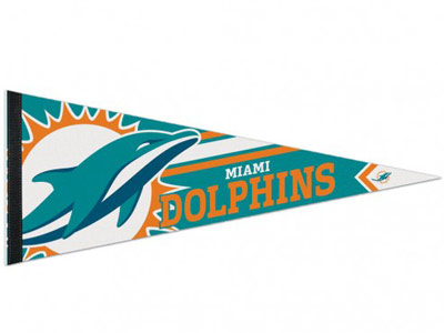 LOGO PENNANT in MIAMI DOLPHINS Found in: NFL > MIAMI DOLPHINS > Souvenirs > Pennants