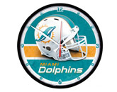 ROUND WALL CLOCK in MIAMI DOLPHINS Found in: NFL > MIAMI DOLPHINS > Souvenirs > Clocks