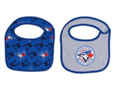 INFANT DRIBBLE BIBS 2PK in TORONTO BLUE JAYS Found in: MLB > Toronto Blue Jays > Clothing > Accessorie