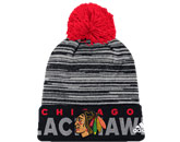 CUFFED KNIT W/POM in CHICAGO BLACKHAWKS Found in: NHL > CHICAGO BLACKHAWKS > Clothing > Hats