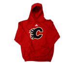 ADIDAS PULLOVER HOOD in CALGARY FLAMES Found in: NHL > CALGARY FLAMES > Clothing > Fleece