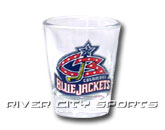 SHOT GLASS in COLUMBUS BLUE JACKETS Found in: NHL > COLUMBUS BLUE JACKETS > Souvenirs > Glassware