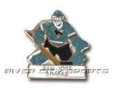 GOALIE PIN [OLD STYLE LOGO] in SAN JOSE SHARKS Found in: NHL > SAN JOSE SHARKS > Souvenirs > Pins