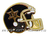 HELMET PIN in LAS VEGAS POSSE Found in: CFL > Las Vegas Posse > Souvenirs > Pins