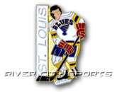 LITTLE PLAYER PIN [OLD STYLE LOGO] in ST. LOUIS BLUES Found in: NHL > ST. LOUIS BLUES > Souvenirs > Pins