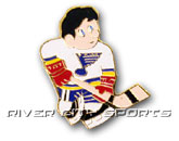 MINI PLAYER PIN [OLD STYLE LOGO] in ST. LOUIS BLUES Found in: NHL > ST. LOUIS BLUES > Souvenirs > Pins