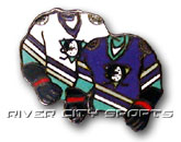 DOUBLE SWEATER PIN in ANAHEIM DUCKS Found in: NHL > Anaheim Ducks > Souvenirs > Pins