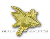 GOLD LOGO PIN in SAN JOSE SHARKS Found in: NHL > SAN JOSE SHARKS > Souvenirs > Pins