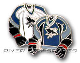DOUBLE SWEATER PIN in SAN JOSE SHARKS Found in: NHL > SAN JOSE SHARKS > Souvenirs > Pins