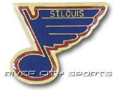 LARGE LOGO PIN [OLD STYLE LOGO] in ST. LOUIS BLUES Found in: NHL > ST. LOUIS BLUES > Souvenirs > Pins