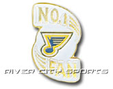 NO. 1 FAN PIN in ST. LOUIS BLUES Found in: NHL > ST. LOUIS BLUES > Souvenirs > Pins