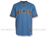 MAJESTIC RETRO JERSEY in MILWAUKEE BREWERS Found in: MLB > Milwaukee Brewers > Jerseys > Replica