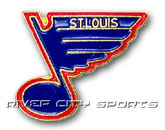 LOGO PIN in ST. LOUIS BLUES Found in: NHL > ST. LOUIS BLUES > Souvenirs > Pins